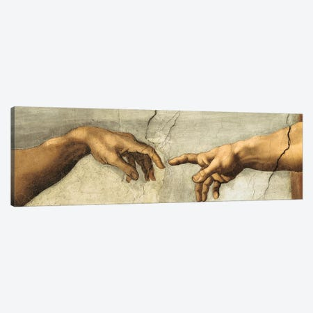 Creazione di Adamo, Detail Canvas Print #MBS2} by Michelangelo Canvas Wall Art