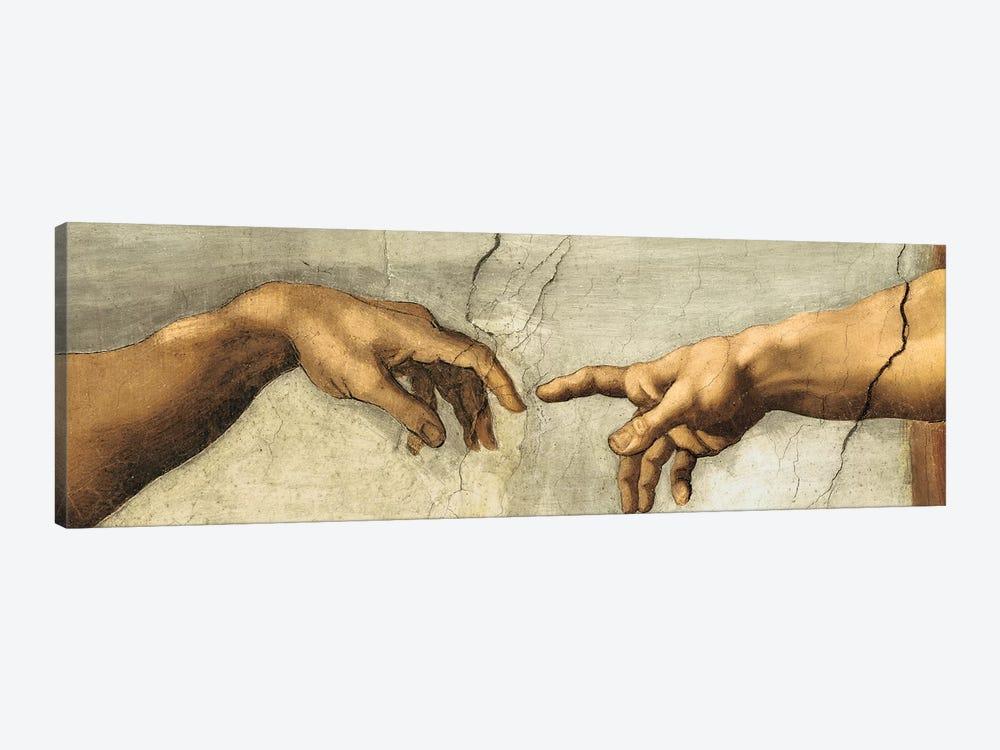 Creazione di Adamo, Detail by Michelangelo 1-piece Canvas Artwork