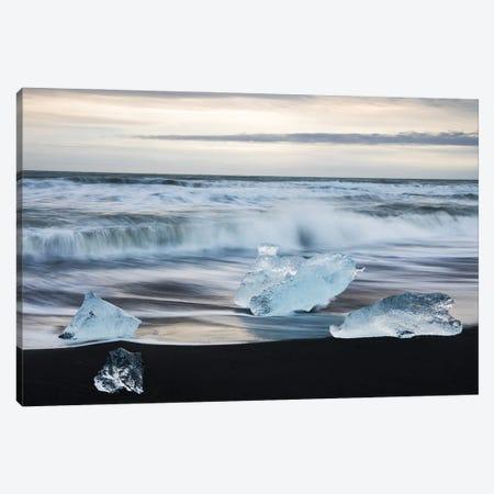 Icelandic Sea Canvas Print #MBT51} by Mauro Battistelli Canvas Artwork