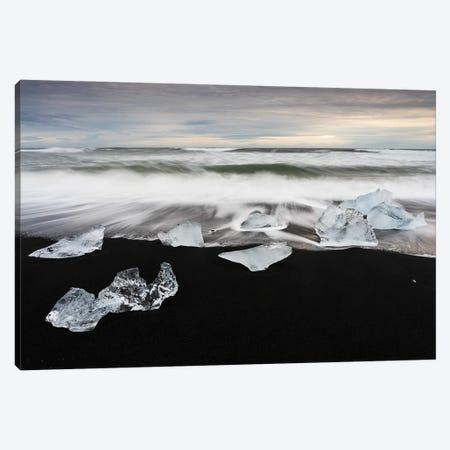 Black Sand & Crystal Ice Canvas Print #MBT52} by Mauro Battistelli Canvas Wall Art