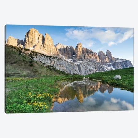 Spring In Dolomites Canvas Print #MBT73} by Mauro Battistelli Canvas Artwork