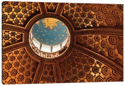 Interior Of Dome And Bernini's Lantern, Duomo de Siena (Siena Cathedral), Siena, Tuscany Region, Italy Canvas Art Print