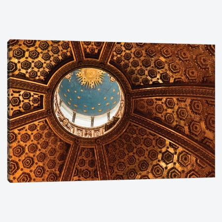 Interior Of Dome And Bernini's Lantern, Duomo de Siena (Siena Cathedral), Siena, Tuscany Region, Italy Canvas Print #MBU1} by Marie Bush Canvas Artwork