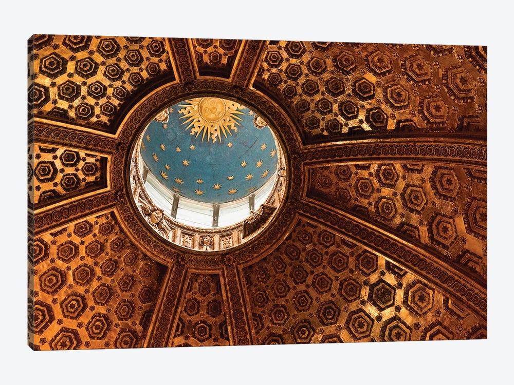 Interior Of Dome And Bernini's Lantern, Duomo de Siena (Siena Cathedral), Siena, Tuscany Region, Italy by Marie Bush 1-piece Canvas Art Print