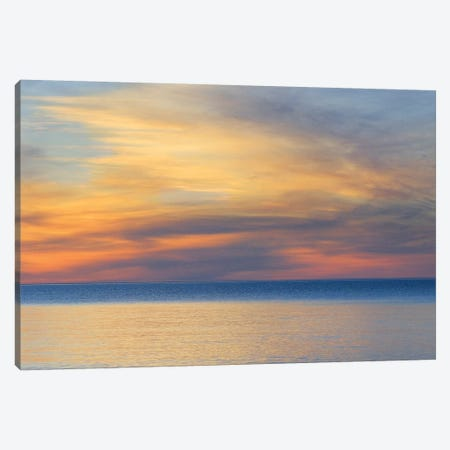 Cloudy Sunset, Lake Superior, Upper Peninsula, Michigan, USA Canvas Print #MBU2} by Marie Bush Canvas Wall Art