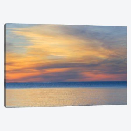 Cloudy Sunset, Lake Superior, Upper Peninsula, Michigan, USA Canvas Print #MBU2} by Marie Bush Canvas Wall Art