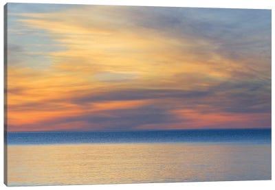 Cloudy Sunset, Lake Superior, Upper Peninsula, Michigan, USA Canvas Art Print