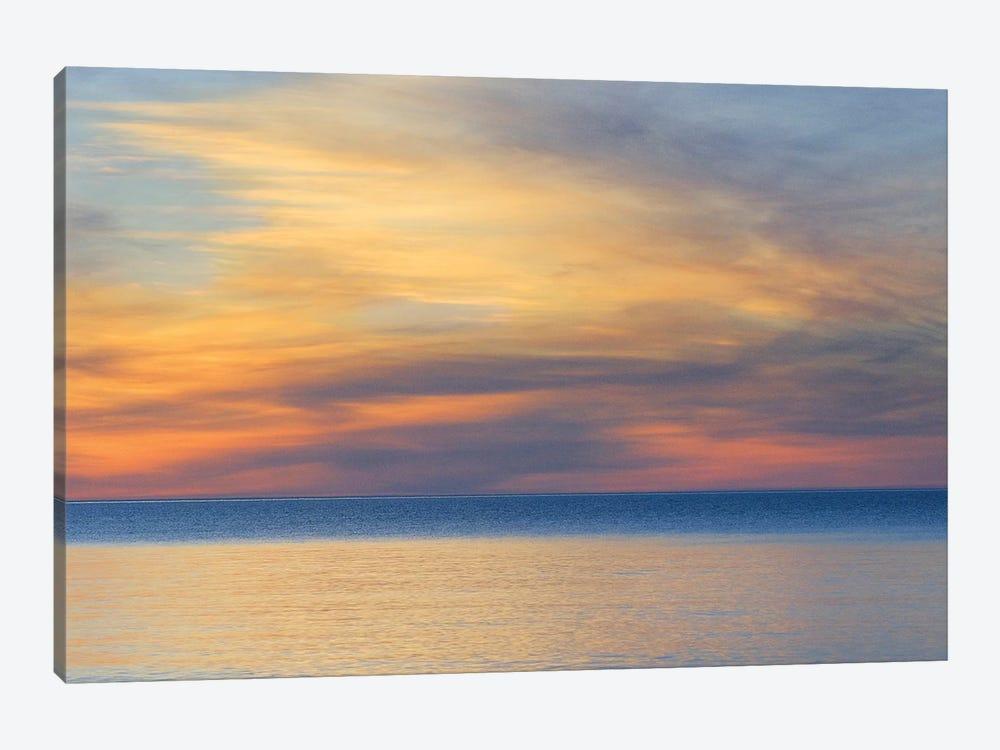 Cloudy Sunset, Lake Superior, Upper Peninsula, Michigan, USA by Marie Bush 1-piece Canvas Wall Art
