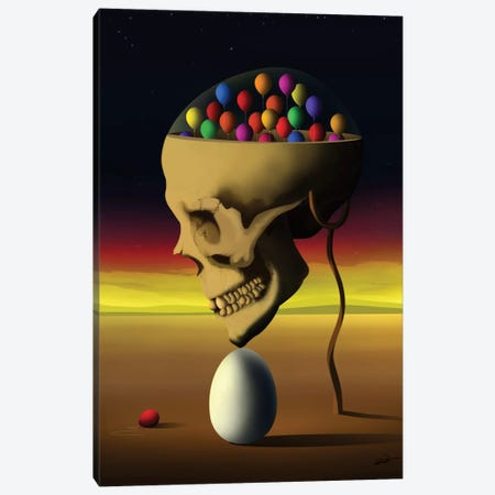 Caveira de Perfil (Skull Profile) Canvas Print #MCA10} by Marcel Caram Canvas Art