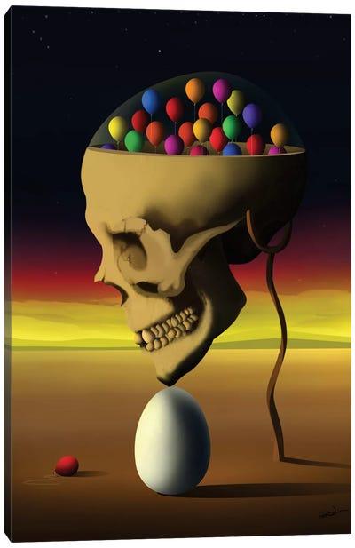Caveira de Perfil (Skull Profile) Canvas Art Print