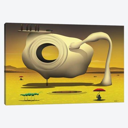 Equilíbrio sobre a Garrafa (Balance On The Bottle) Canvas Print #MCA12} by Marcel Caram Canvas Art