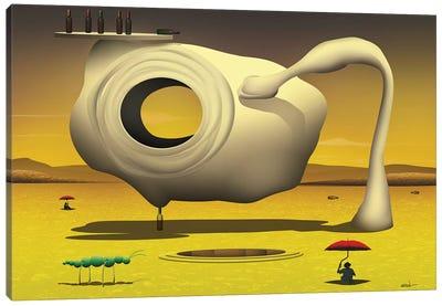 Equilíbrio sobre a Garrafa (Balance On The Bottle) Canvas Print #MCA12