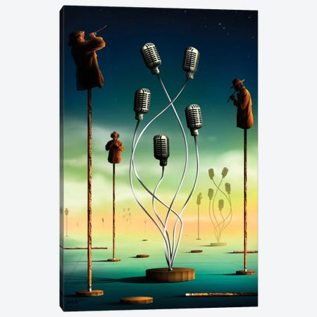 Flautistas (Flutists) Canvas Print #MCA13} by Marcel Caram Canvas Wall Art