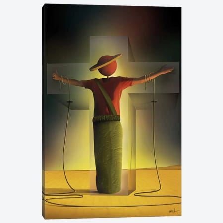 Homem na Cruz (Man On The Cross) Canvas Print #MCA14} by Marcel Caram Canvas Art Print
