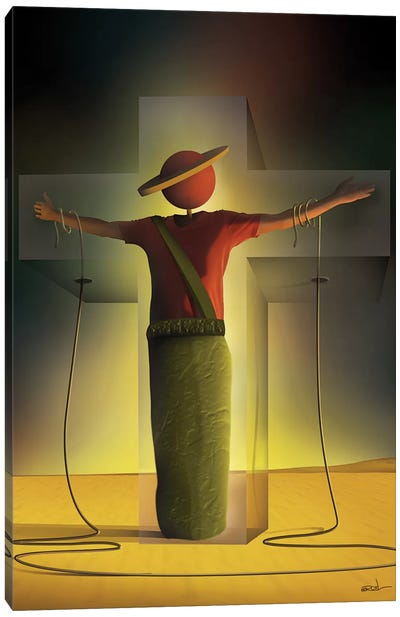 Homem na Cruz (Man On The Cross) Canvas Art Print