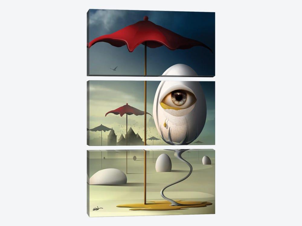 Lágrima (Tear) by Marcel Caram 3-piece Canvas Artwork