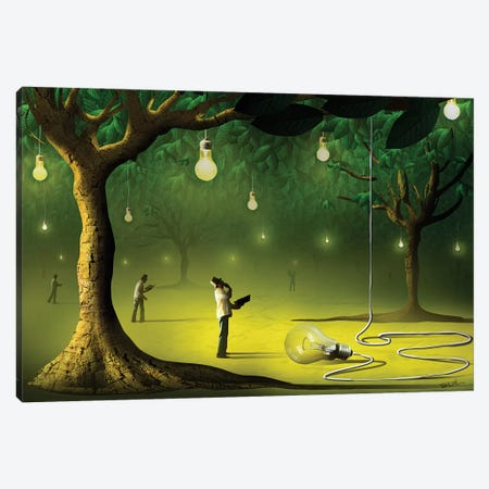 Lâmpadas na Floresta (Lamps In  The Forest) Canvas Print #MCA16} by Marcel Caram Canvas Art Print