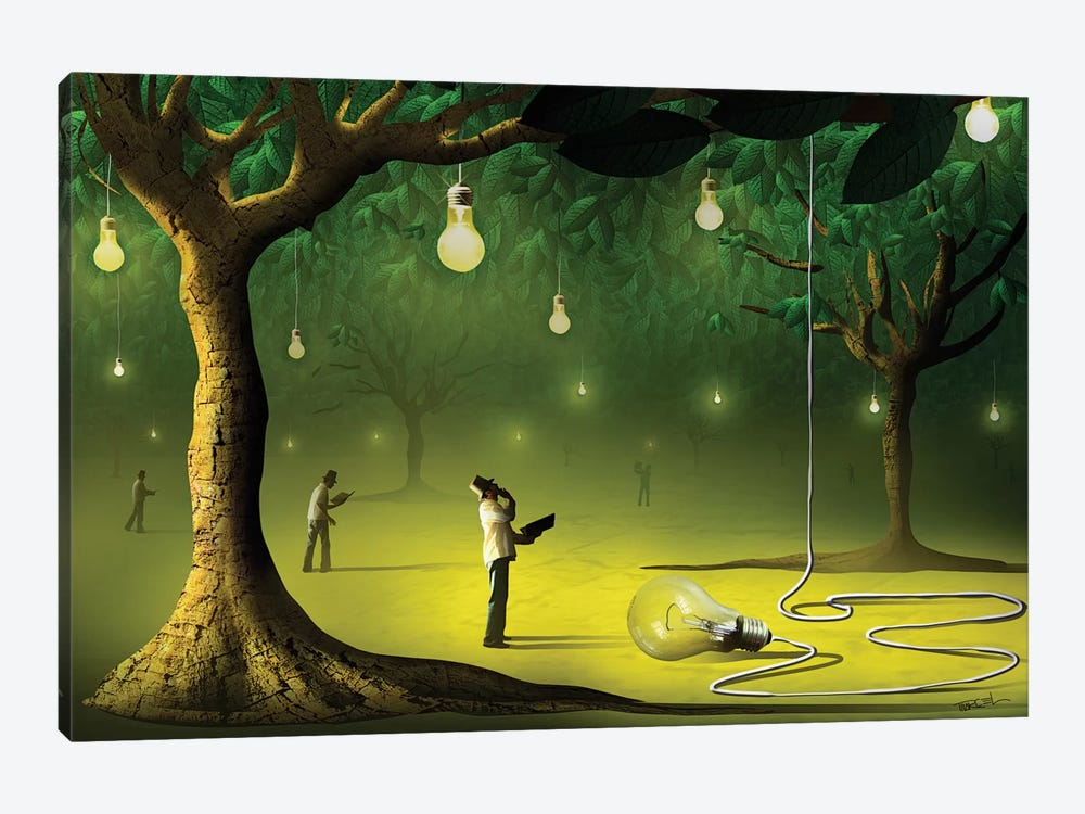 Lâmpadas na Floresta (Lamps In  The Forest) by Marcel Caram 1-piece Art Print