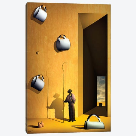O Colecionador de Xícaras (The Collector's Cups) Canvas Print #MCA18} by Marcel Caram Canvas Art