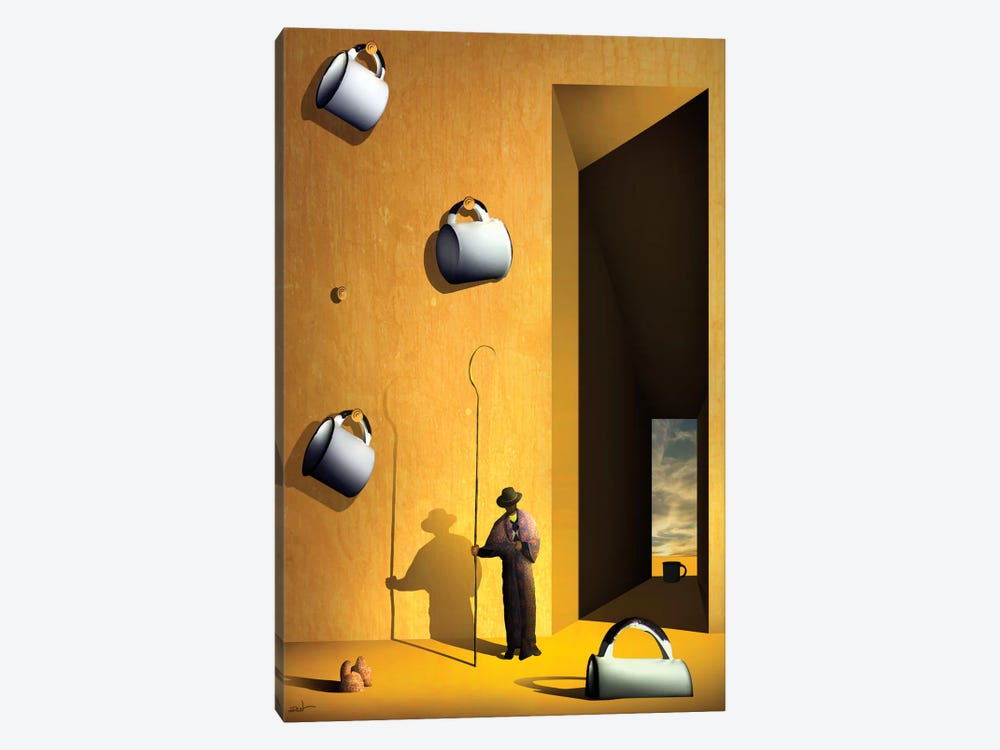 O Colecionador de Xícaras (The Collector's Cups) by Marcel Caram 1-piece Art Print
