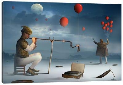 O Ensaio do Flautista (The Assay Flutist) Canvas Print #MCA19