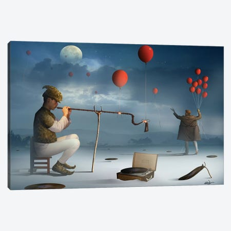O Ensaio do Flautista (The Assay Flutist) Canvas Print #MCA19} by Marcel Caram Canvas Artwork