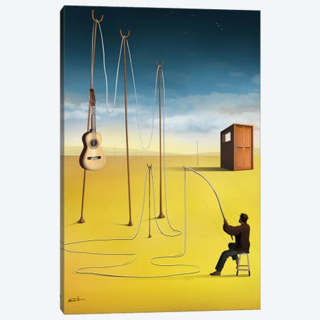 O Pescador de Violão (The Guitar Fisherman) Canvas Print #MCA20} by Marcel Caram Canvas Art Print