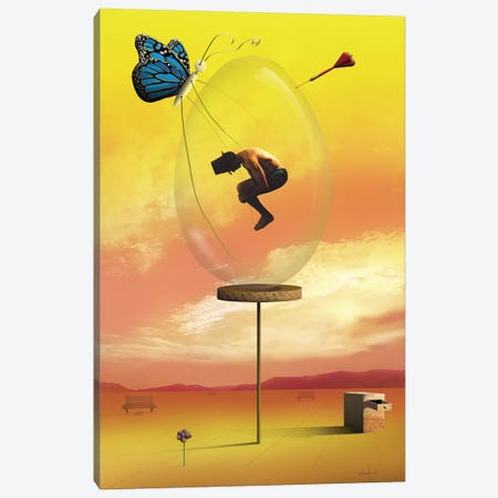 Ovo de Vidro (Glass Egg) Canvas Print #MCA21} by Marcel Caram Art Print