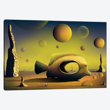 Paisagem com Peixe (Landscape With Fish) Canvas Print #MCA22} by Marcel Caram Canvas Art Print