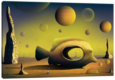 Paisagem com Peixe (Landscape With Fish) Canvas Art Print