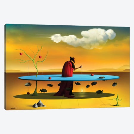 Pastor com Rebanho (Shepherd With Flock) Canvas Print #MCA24} by Marcel Caram Canvas Artwork