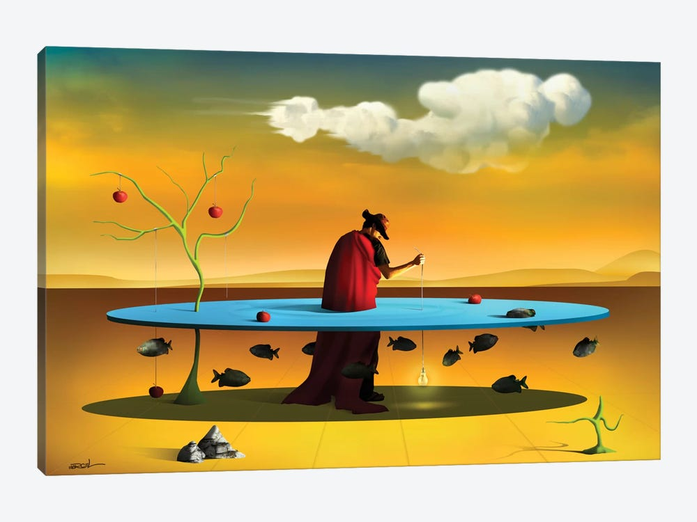 Pastor com Rebanho (Shepherd With Flock) by Marcel Caram 1-piece Canvas Wall Art