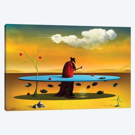 Pastor com Rebanho (Shepherd With Flock) Canvas Print #MCA24} by Marcel Caram Canvas Artwork