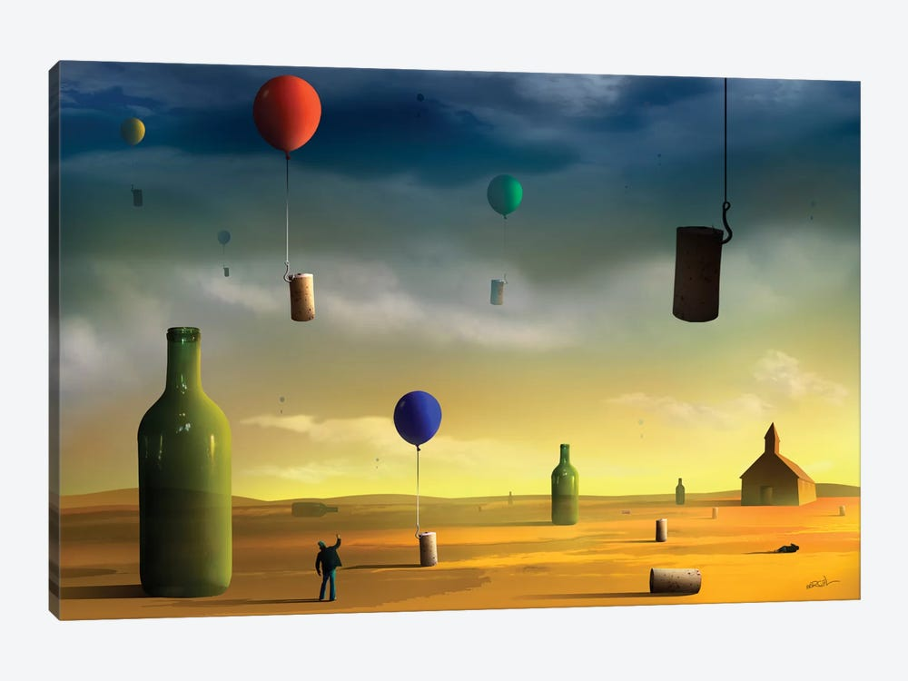 Rolhas (Corks) by Marcel Caram 1-piece Canvas Artwork