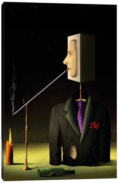 Um Homem na Noite (A Man In The Night) Canvas Art Print