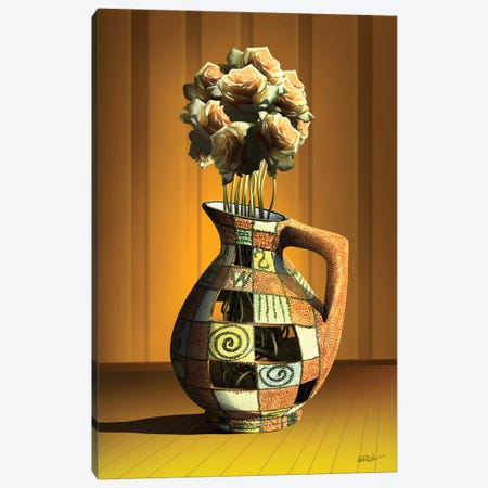 Vaso de Rosas (Rose Vase) Canvas Print #MCA29} by Marcel Caram Canvas Print