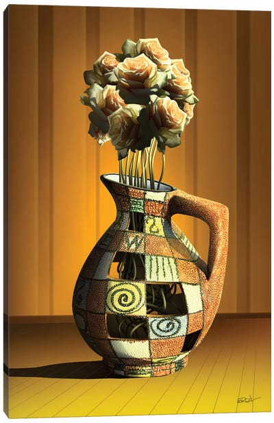 Vaso de Rosas (Rose Vase) Canvas Art Print
