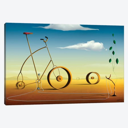 A Bicicleta (The Bicycle) Canvas Print #MCA2} by Marcel Caram Canvas Art