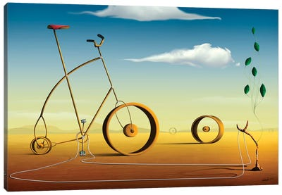 A Bicicleta (The Bicycle) Canvas Art Print
