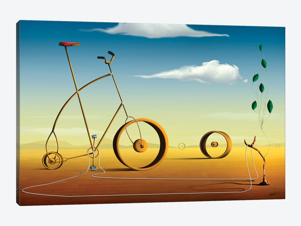 A Bicicleta (The Bicycle) by Marcel Caram 1-piece Art Print