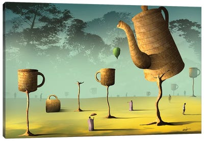 Campo de Café (Field Of Coffee) Canvas Art Print