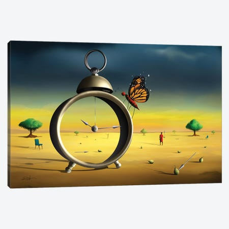 Cena Com Despertador (Scene With Alarm Clock) Canvas Print #MCA32} by Marcel Caram Canvas Artwork