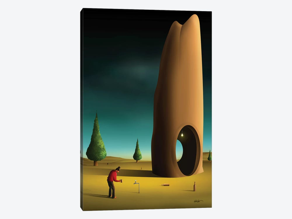 Cena Com Pinheiros (Scene With Pine trees) by Marcel Caram 1-piece Canvas Artwork