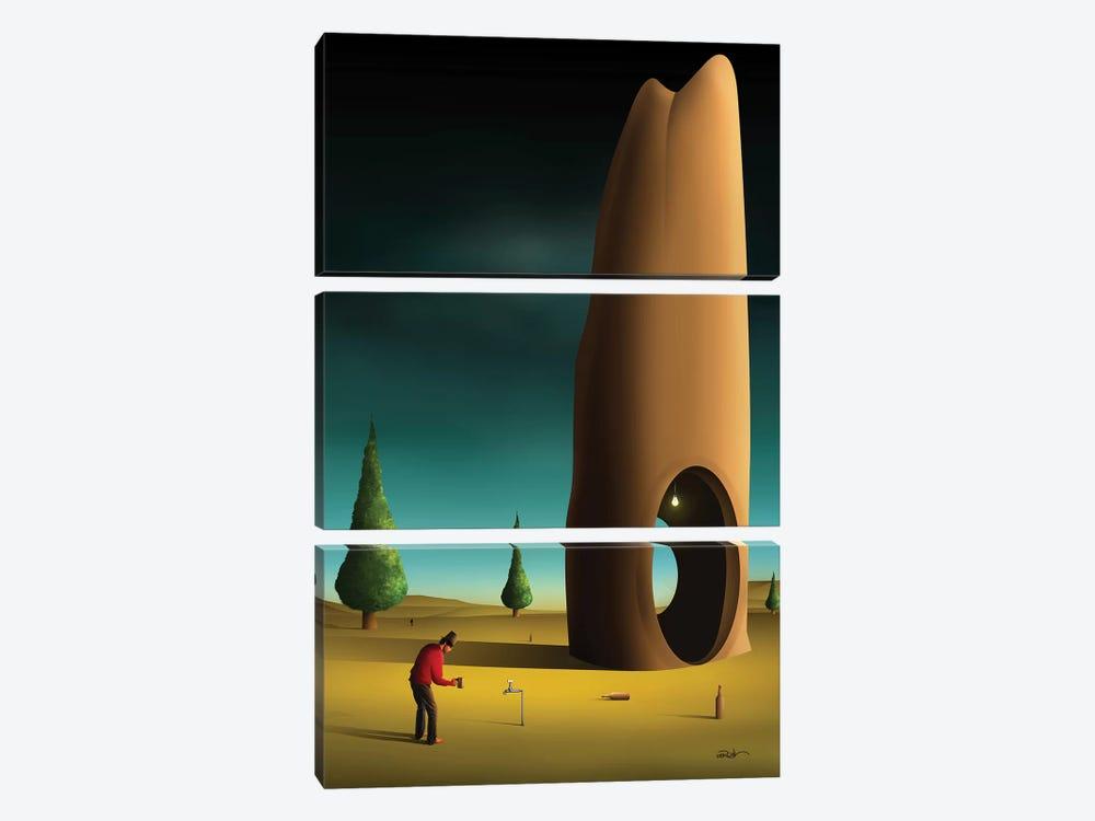 Cena Com Pinheiros (Scene With Pine trees) by Marcel Caram 3-piece Canvas Wall Art
