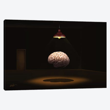 Cerebro (Brain) Canvas Print #MCA34} by Marcel Caram Canvas Print