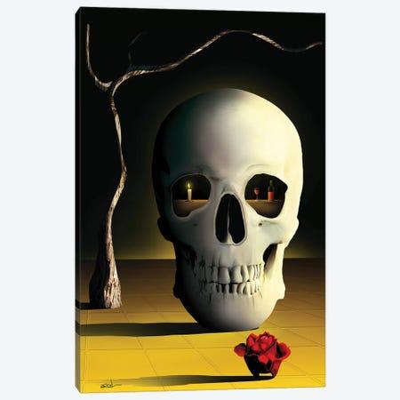 iCaveira (iSkull) Canvas Print #MCA37} by Marcel Caram Canvas Art Print