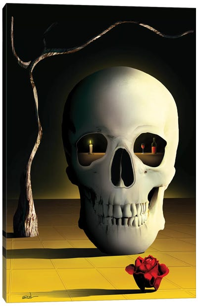 iCaveira (iSkull) Canvas Art Print