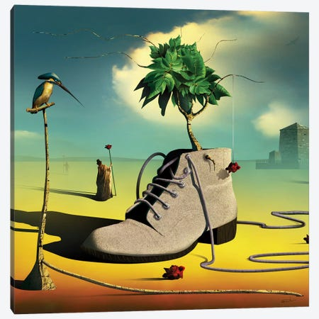 A Bota (The Boot) Canvas Print #MCA3} by Marcel Caram Canvas Art