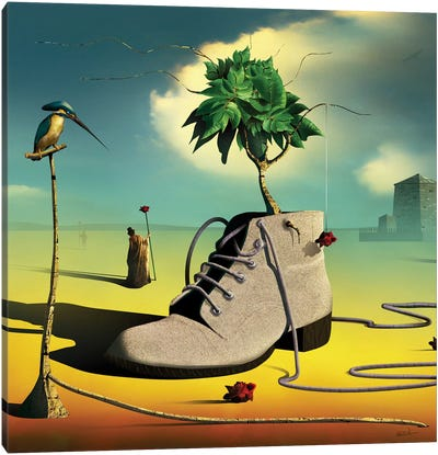 A Bota (The Boot) Canvas Art Print
