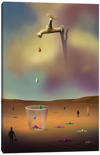 Pingos Coloridos (Colorful Drops) II Canvas Art Print